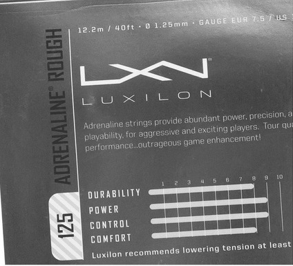 Corda Luxilon Adrenaline ROUGH 1,25mm - Set Individual