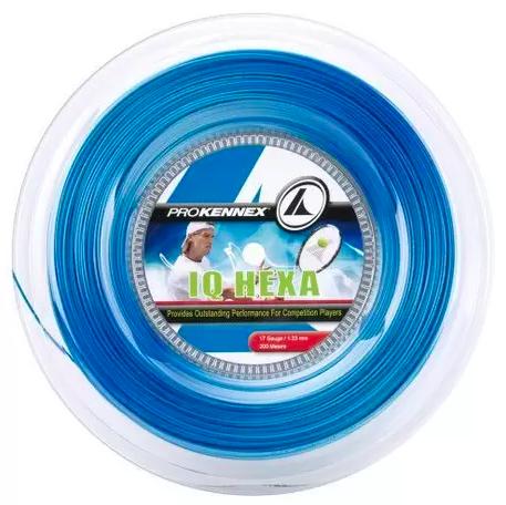 Corda Pro Kennex IQ Hexa 1.23mm Azul - Rolo com 200m