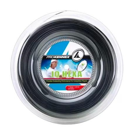 Corda Pro Kennex IQ Hexa 1.23mm Preta - Rolo com 200m