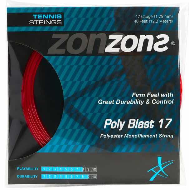 Corda Zons Poly Blast 17 1,25mm –Vermelho -  Set Individual