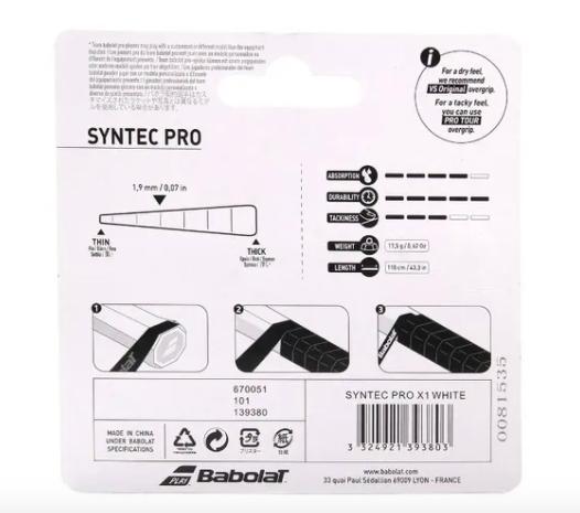 Cushion Grip Babolat Syntec Pro Feel - Preto/Amarelo