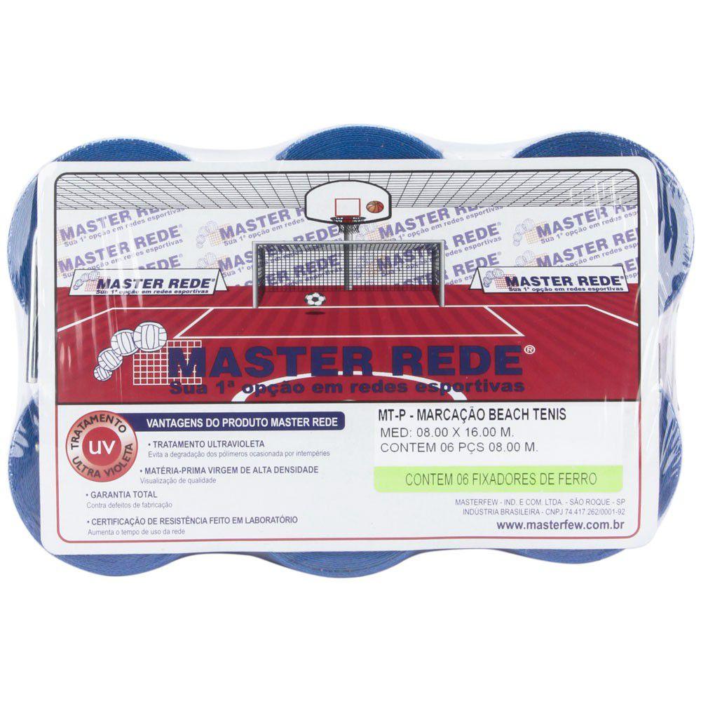 Marcação Master Rede para Beach Tennis Oficial - Azul