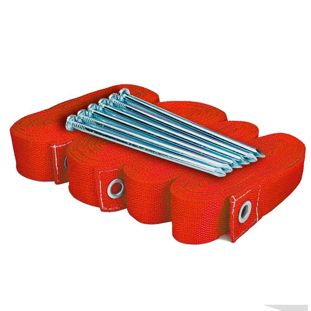 Marcação para Beach Tennis Spin com 6 Fixadores - Vermelho