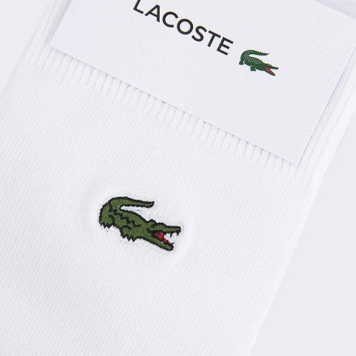 Meia Lacoste Bord-Côte Souple - Cano Alto Branco 41/46