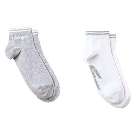 Meia Lacoste Sport - Silver Chine/White (8.5-12)