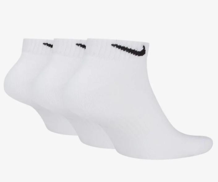 Meia Nike Cano Baixo Everyday Cushion Low  3 pares - Branco (39-43)