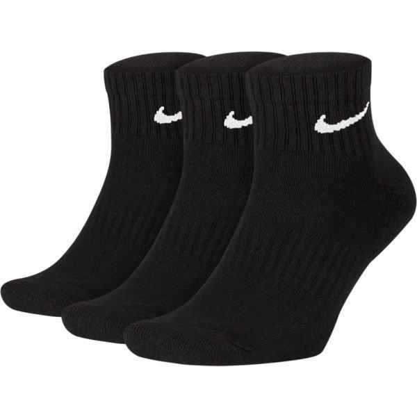 Meia Nike Cano Médio Everyday Cushion Ankle 3 pares - Preto  (34-38)