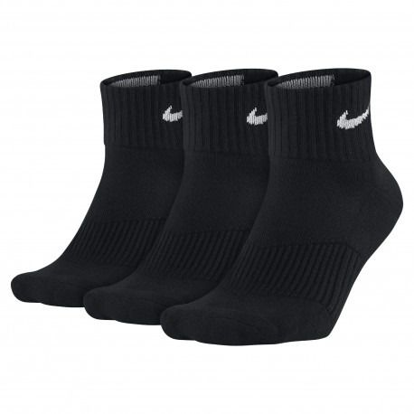 Meia Nike Infantil Cotton Cushion 3 Pares - Preta (36-39)