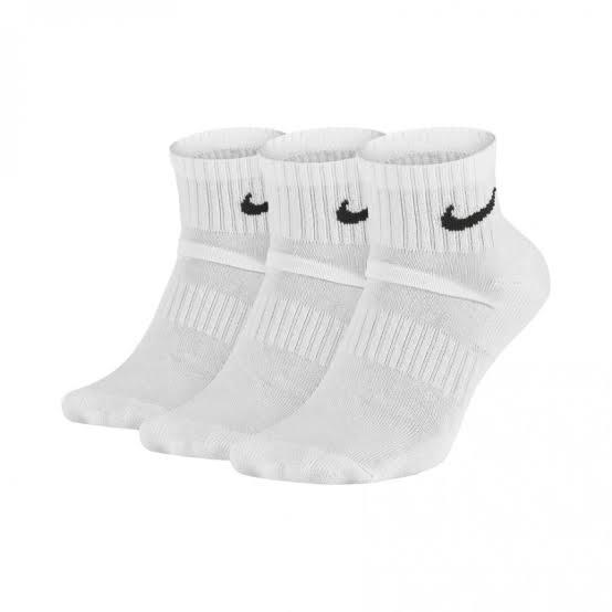 Meia Nike Everyday Cushion Quarter 3 pares - Branco (39-44)