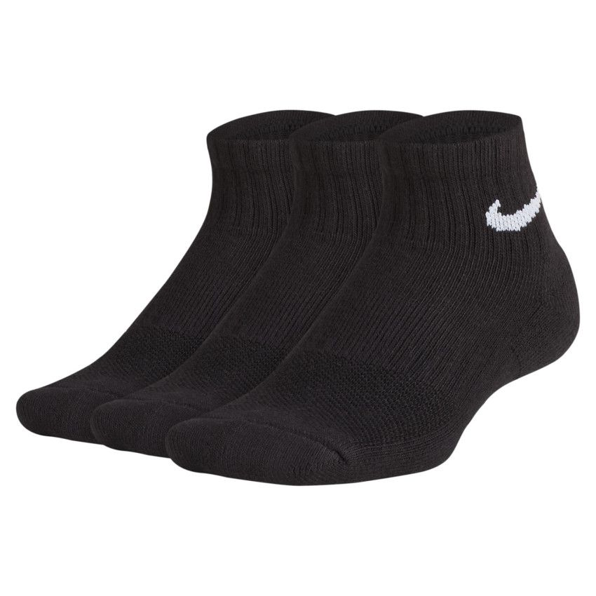 Meia Infantil Nike Performance Cushion 3 pares - Preto (34-36)