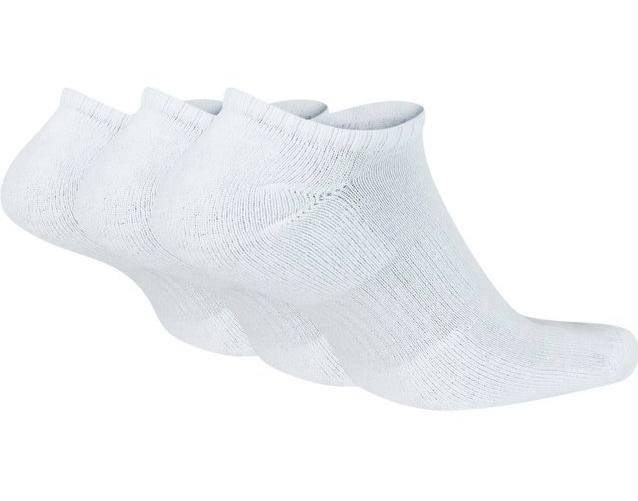 Meia Nike Sem Cano Everyday Cushion 3 pares - Branco (39-43)