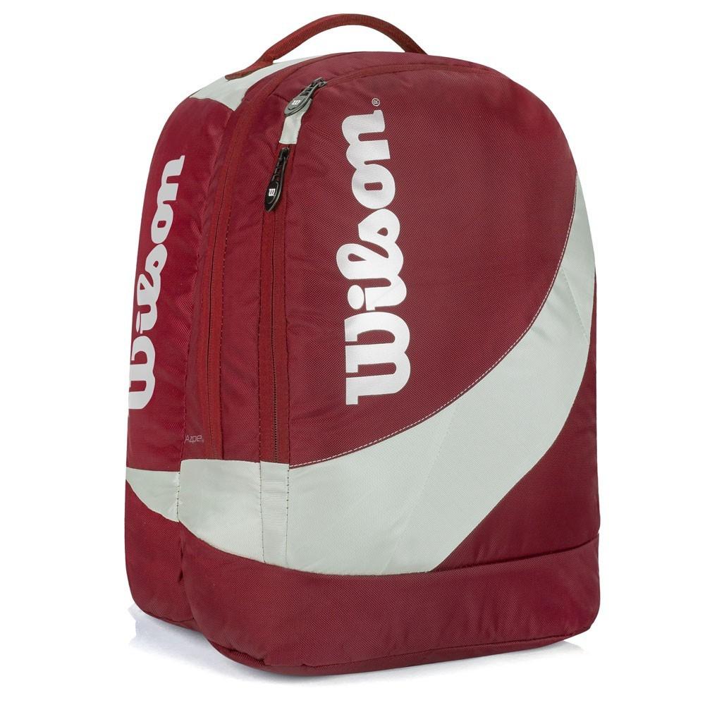Mochila Wilson Esportiva Unissex Esp 10337D Vermelho e Prata