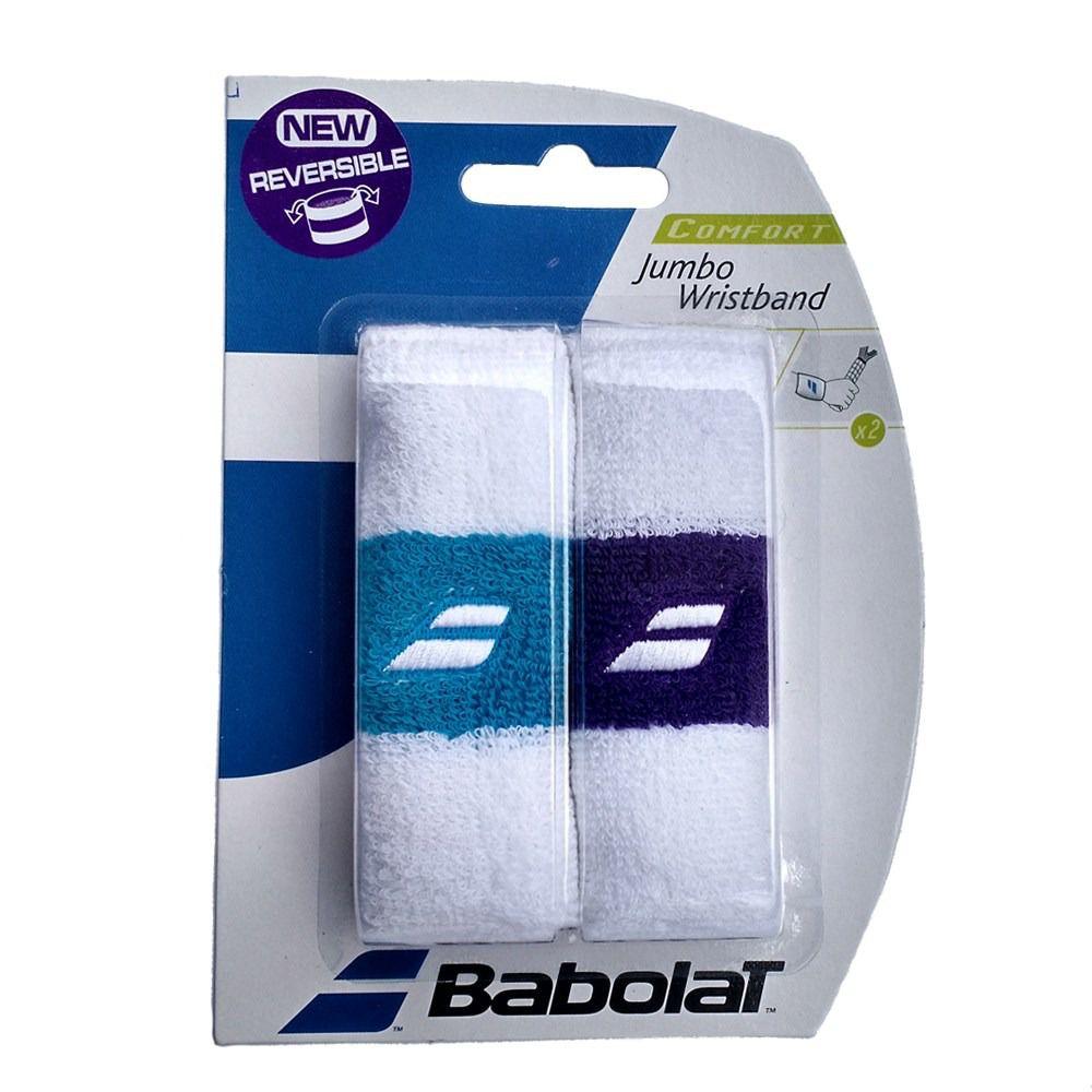 Munhequeira Babolat Jumbo - 1 Par Branca