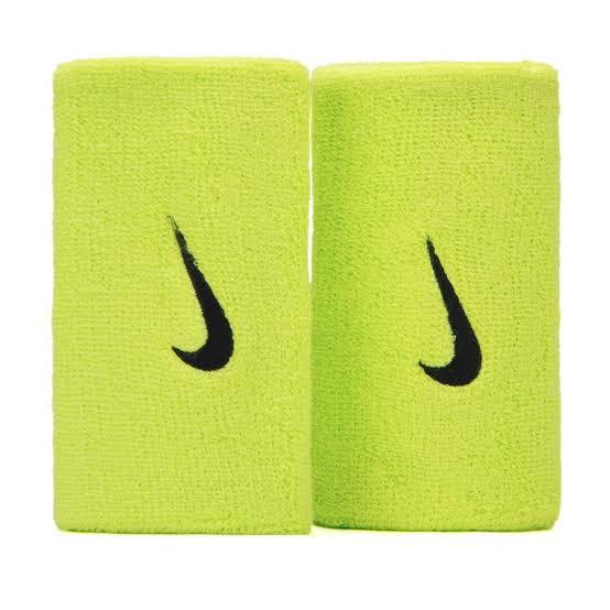 Munhequeira Nike Doublewide Verde e Preto - 02 Unidades.