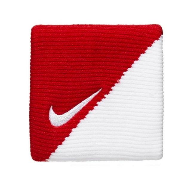 Munhequeira Nike Dri-fit 2.0 Pequena Vermelho/Branco - 1 Par