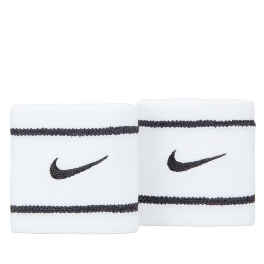 Munhequeira Nike Dri-fit Pequena Branco/Preto - 1 Par