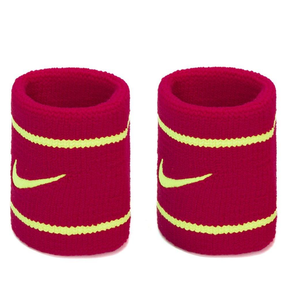 Munhequeira Nike Dri-fit Pequena Rosa Escuro/Amarelo - 1 Par