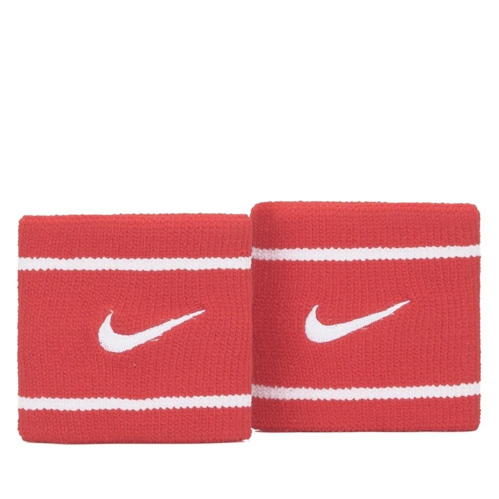 Munhequeira Nike Dri-fit Pequena Vermelho/Branco - 1 Par