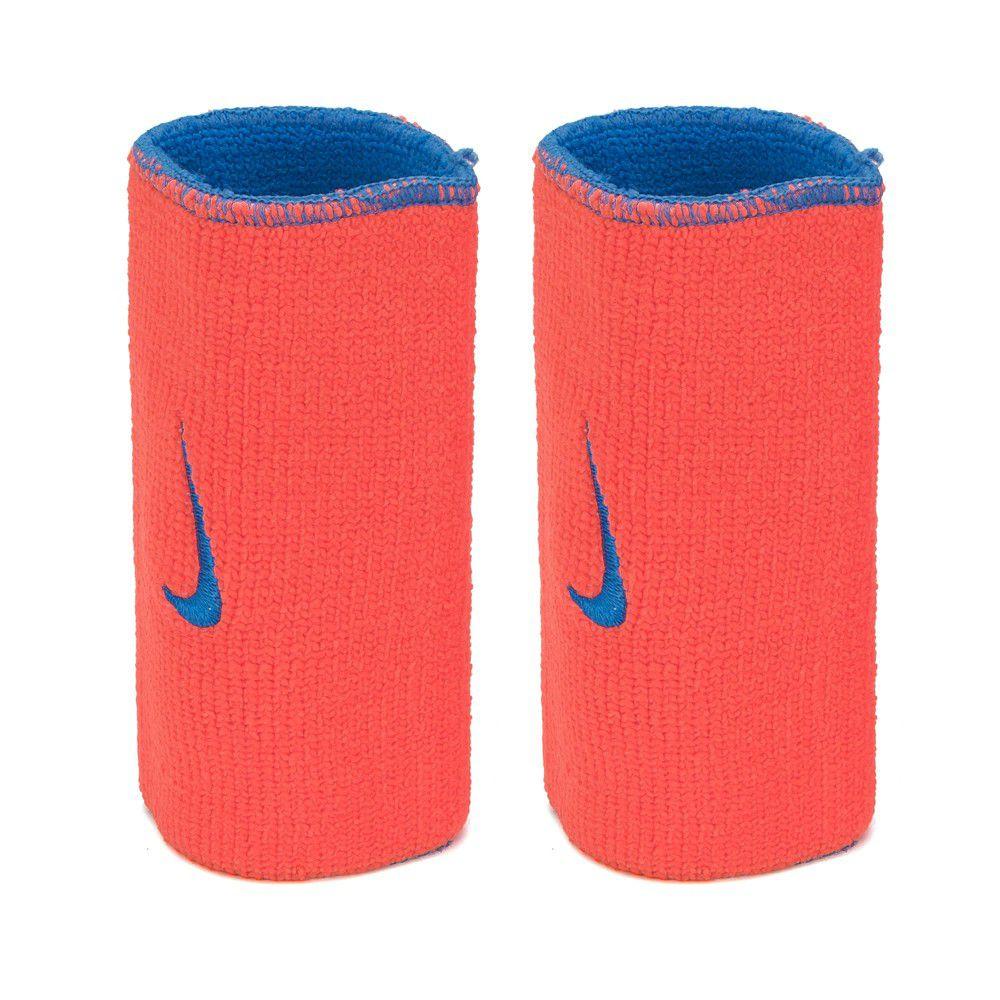Munhequeira Nike Dupla Face Grande Azul e Laranja - 1 Par