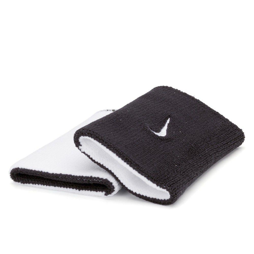 Munhequeira Nike Dupla Face Grande Preto e Branco - 1 Par