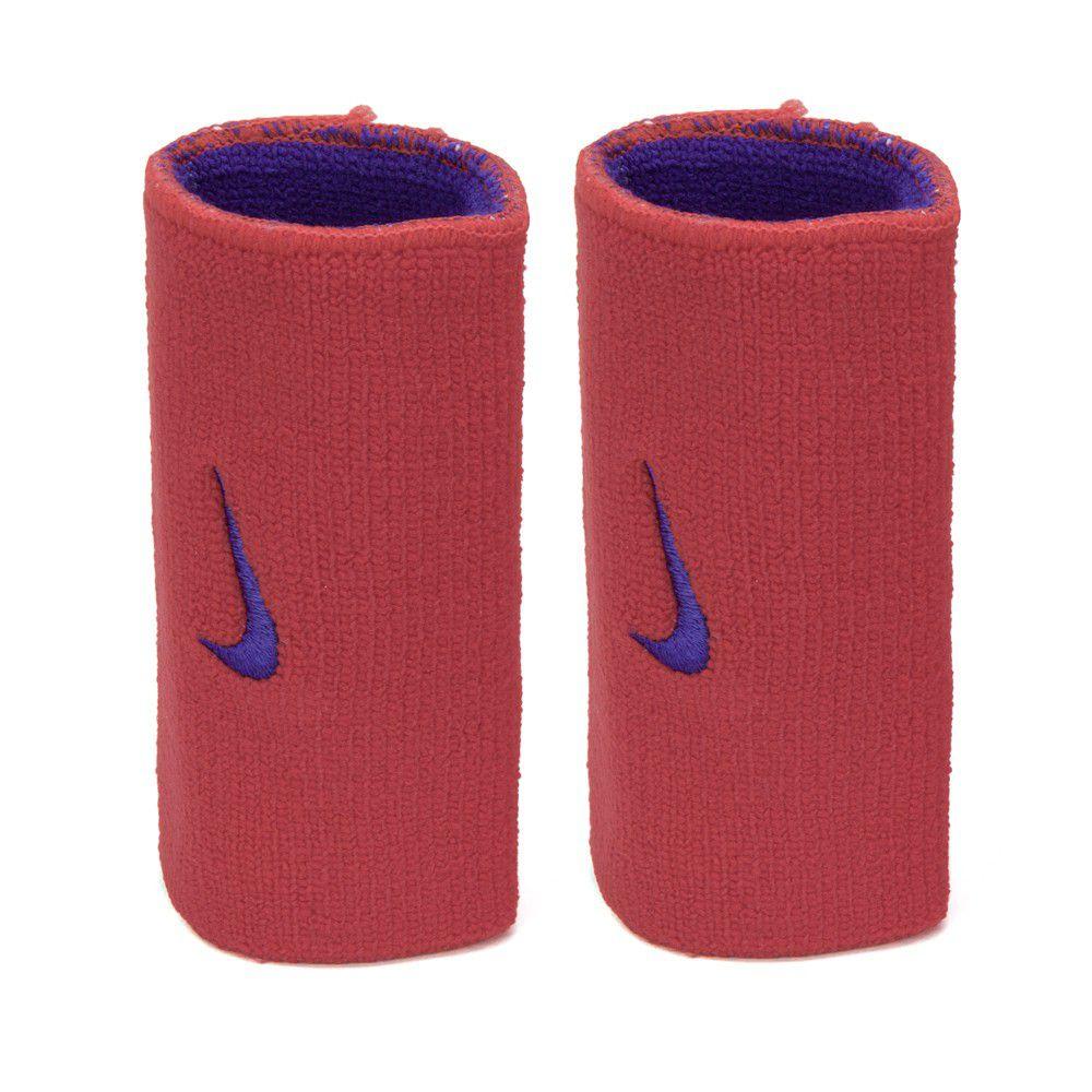 Munhequeira Nike Dupla Face Grande Vermelho e Azul - 1 Par