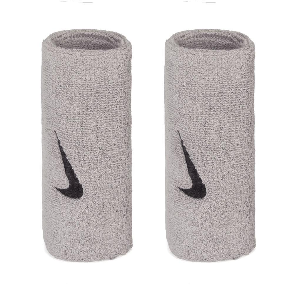 Munhequeira Nike Grande Swoosh Double Wide - Cinza - 01 Par
