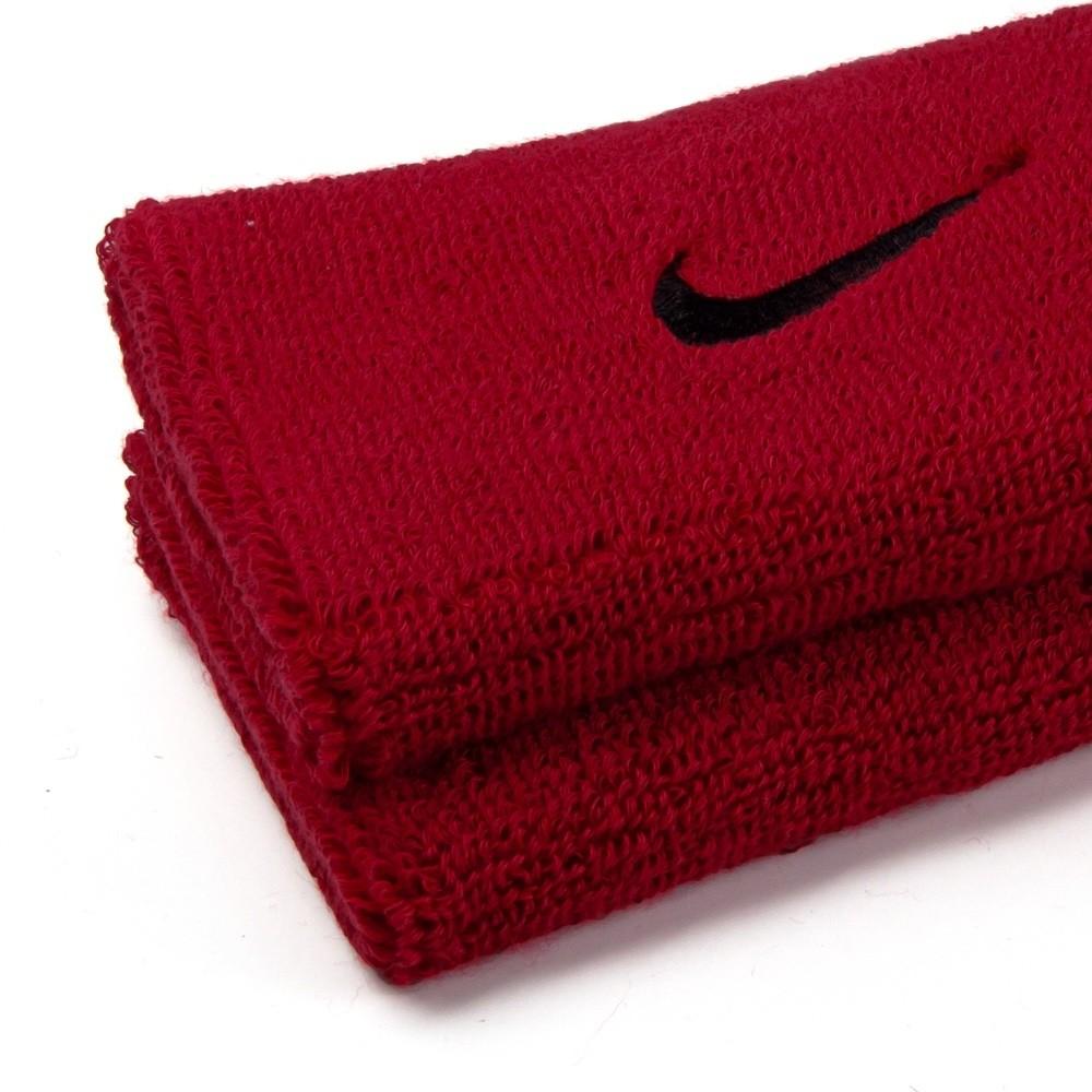 Munhequeira Nike Grande Swoosh Double Wide - Vermelho/Preto - 01 Par