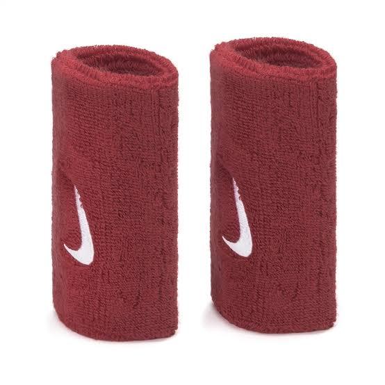 Munhequeira Nike Swoosh Double Vermelha - 02 Unidades