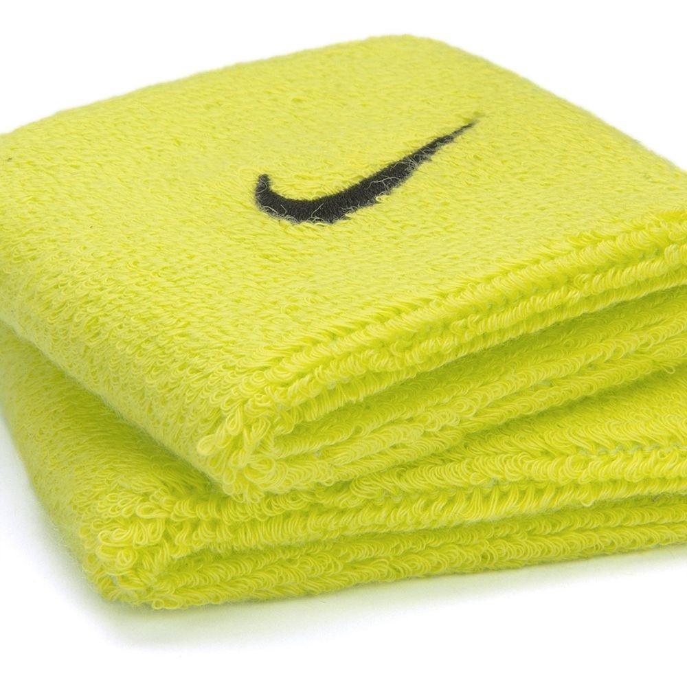 Munhequeira Nike Swoosh Pequena - Verde Limão - 01 Par