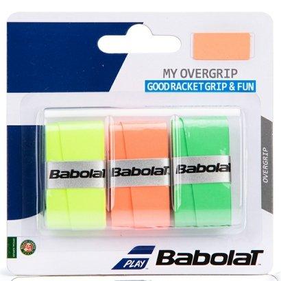 Overgrip Babolat My Overgrip - 3 Unidades (Verde/Laranja/Amarelo)