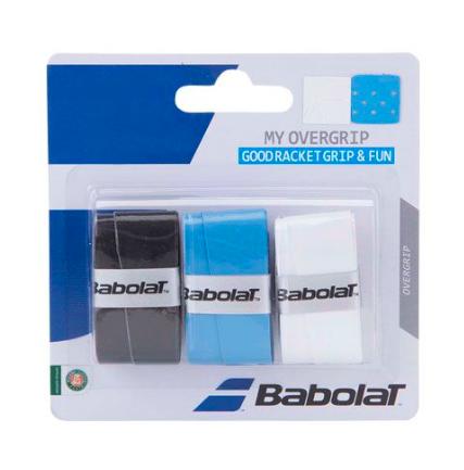 Overgrip Babolat My Overgrip - 3 Unidades (Preto/Azul/Branco)