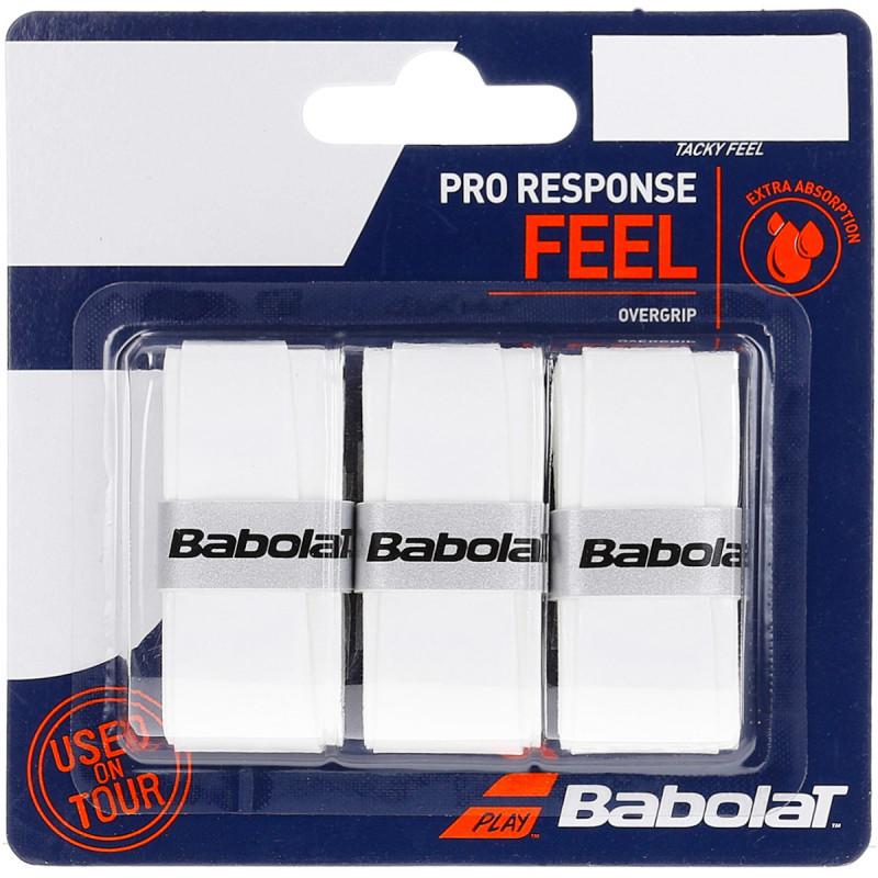 Overgrip Babolat Pro Response Feel - 3 Unidades Branco