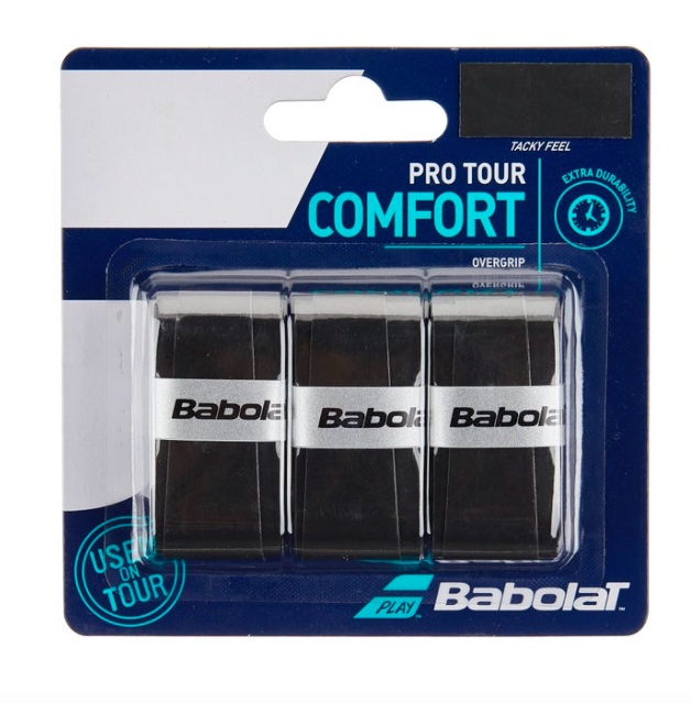 Overgrip Babolat Pro Tour Comfort - 3 Unidades Preto