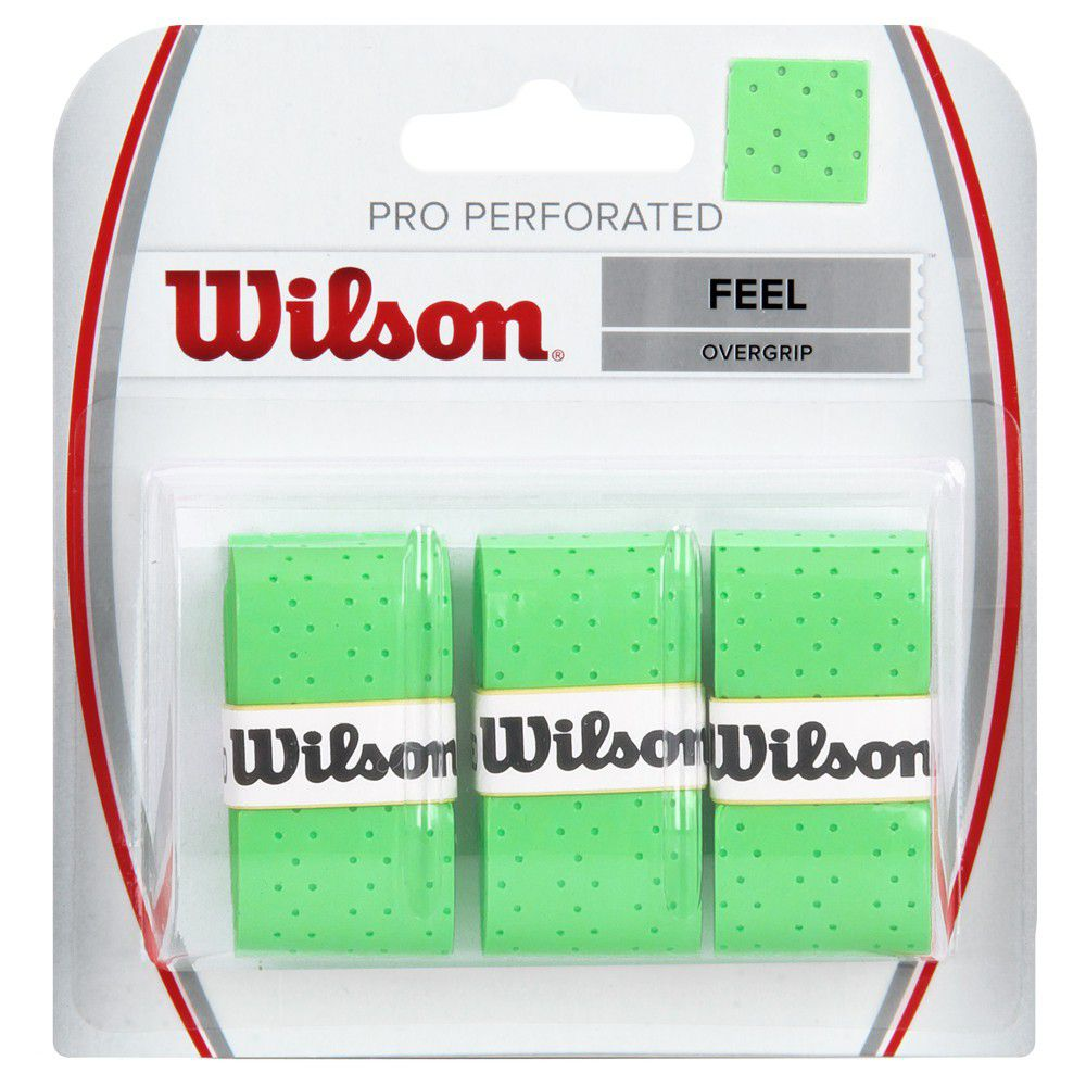 Overgrip Wilson Pro Perforated Verde - 3 Unidades