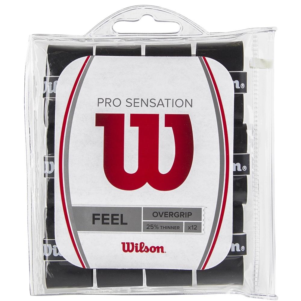 Overgrip Wilson Pro Sensation Preto - 12 Unidades