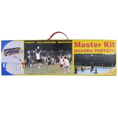 Quadra Portatil Beach Tennis Master Kit