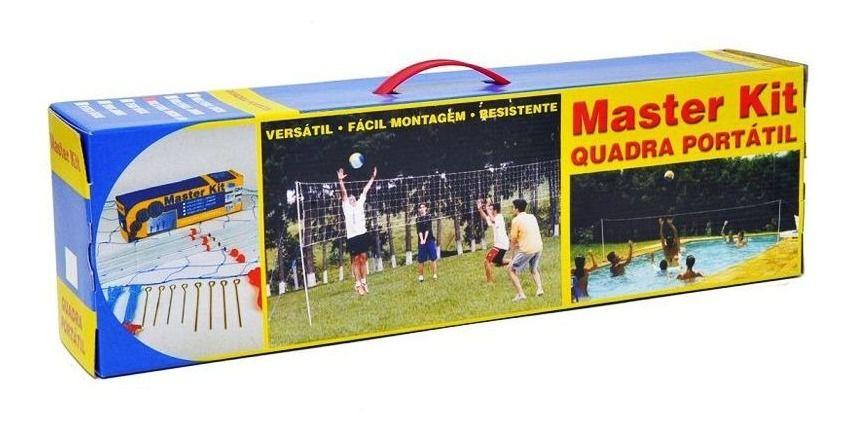 Quadra Portátil Master Kit - Kit Peteca Oficial