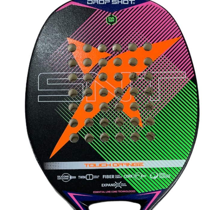 Raquete de Beach Tennis Drop Shot Touch Orange