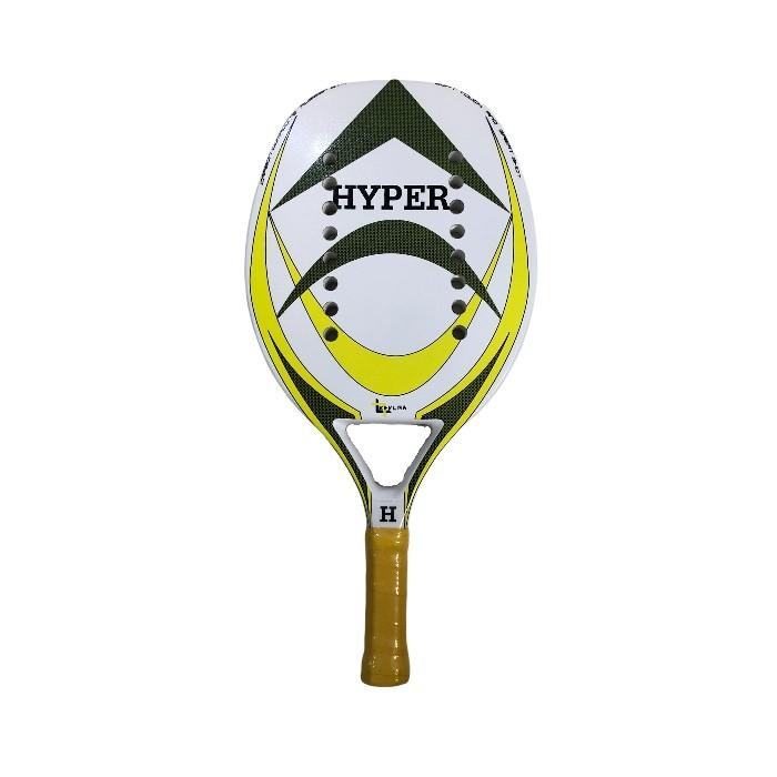 Raquete de Beach Tennis Hyper Sports Branca/Verde/Amarelo