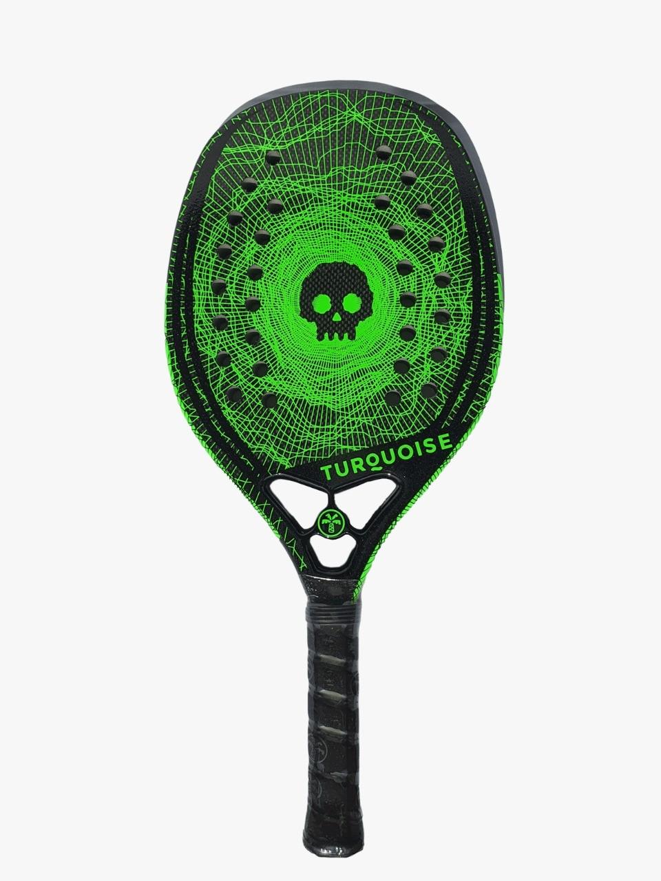 Raquete de Beach Tennis Turquoise Black Death 10.1 2020 Verde