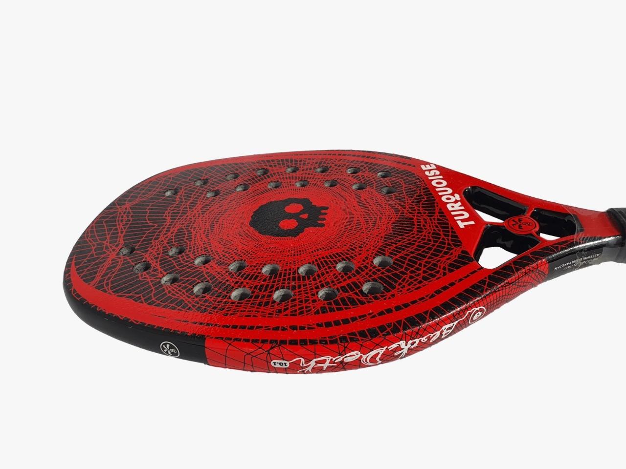 Raquete de Beach Tennis Turquoise Black Death 10.1 2020 Vermelha