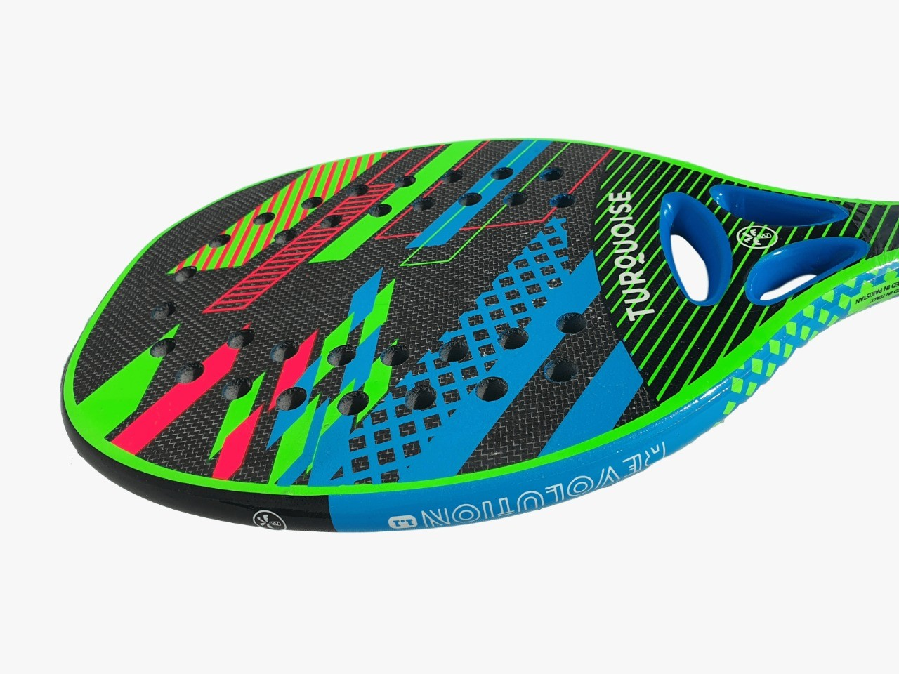 Raquete de Beach Tennis Turquoise Revolution 1.1 2020 Azul