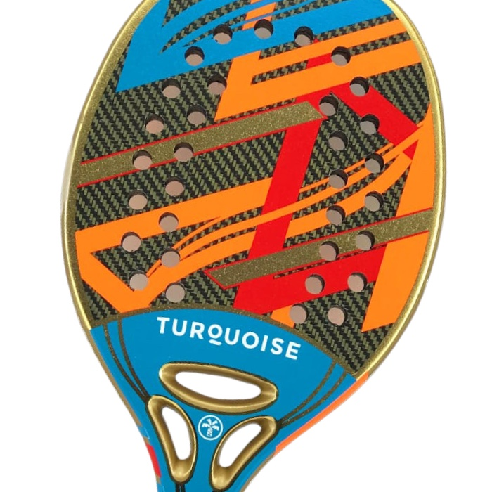Raquete de Beach Tennis Turquoise Revolution 2.1 Azul