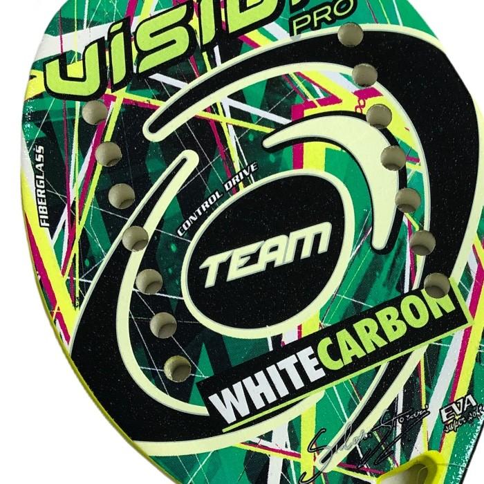 Raquete de Beach Tennis Vision White Carbon Team 2020