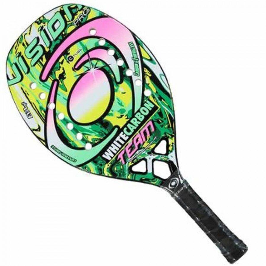 Raquete de Beach Tennis Vision White Carbon Team