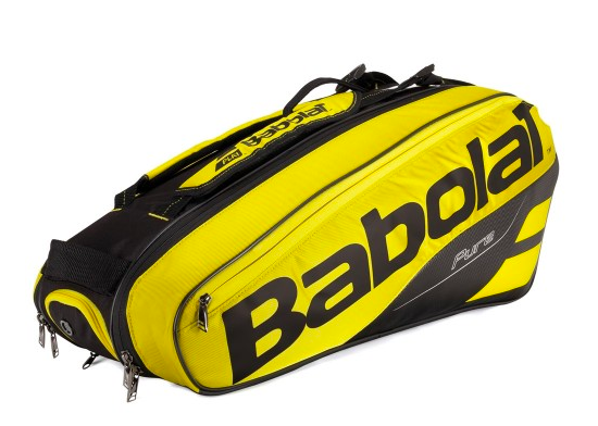 Raqueteira Babolat Pure Aero X6 - Preto e Amarelo