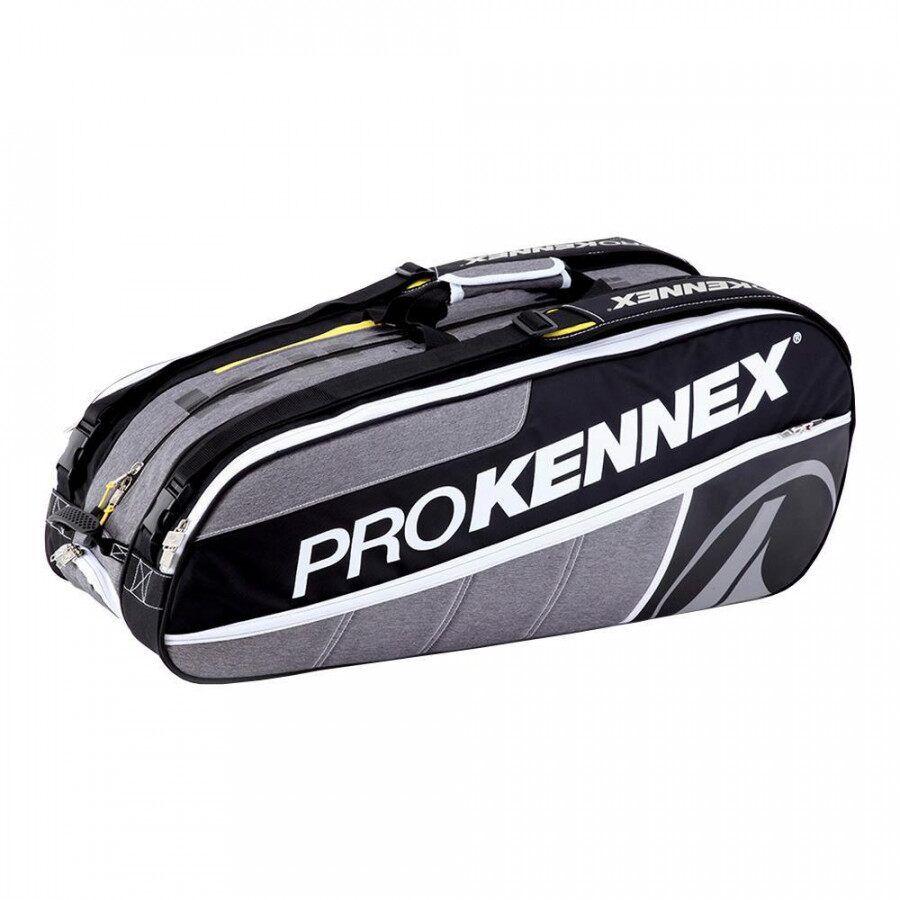 Raqueteira Pro Kennex X9- Preto e Cinza