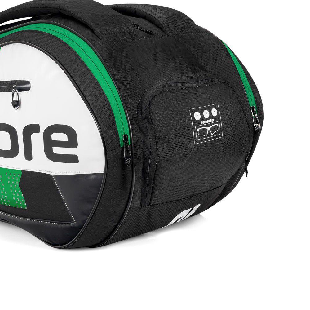 Raqueteira Tecnifibre Squash X12 Preto e Verde