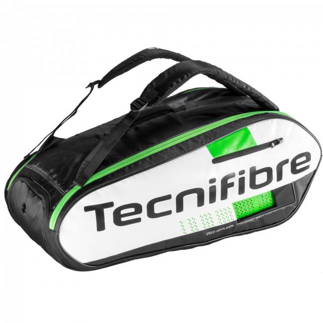 Raqueteira Tecnifibre Squash X9 Preto e Verde