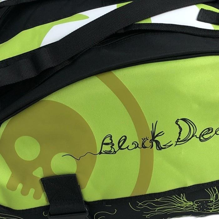 Raqueteira Turquoise Beach Tennis Black Death Super Pro Verde